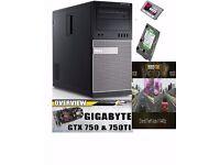 DELL Gaming PC Core i7 16GB SSD Desktop Computer GTX 750 4gb ddr5