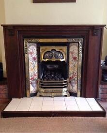 Victorian Tiled Gas Fireplace Suite - REDUCED!