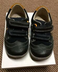 Toddler Boys shoes from Clarks. 4 1/2, 5 1/2.
