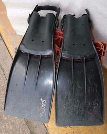 scuba diving fins large