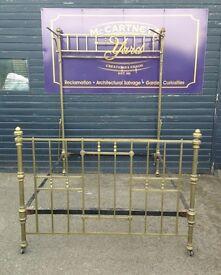 Antique vintage brass bed frame double size