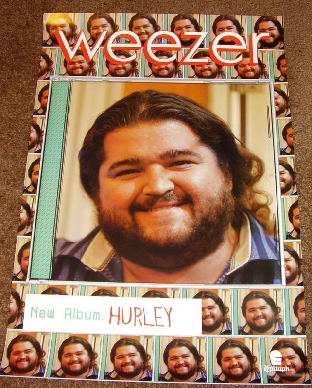 WEEZER Hurley USA 2010 PROMO POSTER for CD MINT LOST Never Displayed Perfect