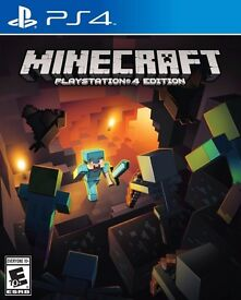 minecraft - playstation 4 edition , ps4 , as new ! price stands , no offers ! willing to post !