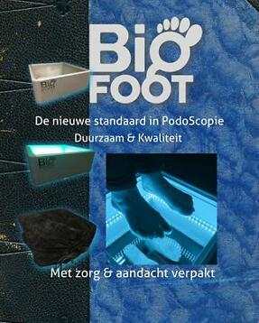 Podoscope Big Foot Aluminium met LED Verlichting pedicure