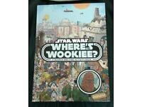 "NEW STAR WARS ""WHERE'S THE WOOKIEE"" HARDBACK BOOK."