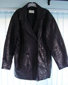 Quality Mens double breasted leather jacket - just £15!