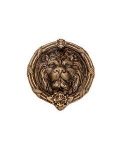 """Door Knocker Lion's Head Brass 8"""" -101 ABD"""
