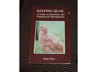 Book, Keeping quail, first edition, signed by author
