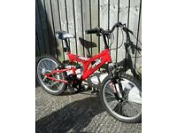 Boys bike suitable up to about 11 yr old. Full suspension and gears. Excellent condition