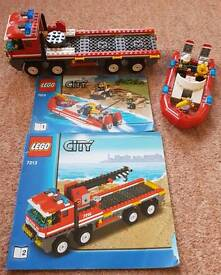 Lego 7213 City off road Fire Truck & Boat