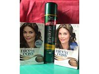 2 New Packs permanent Brown Hair Dye + hairspray