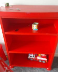 Free red book shelf