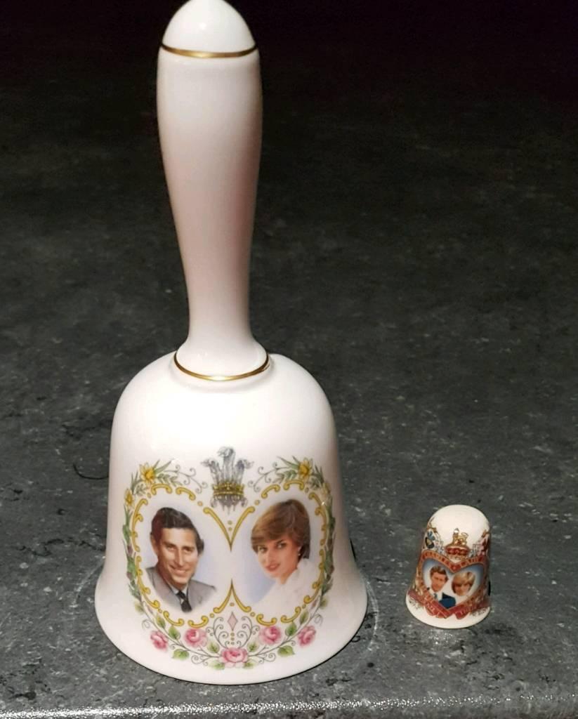Charles & Diana bell & thimble