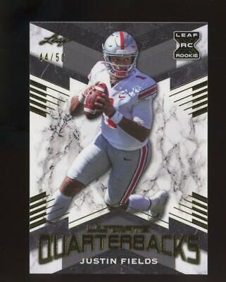 2021 Leaf Ultimate Quarterbacks #UQ03 Justin Fields /50 RC Rookie