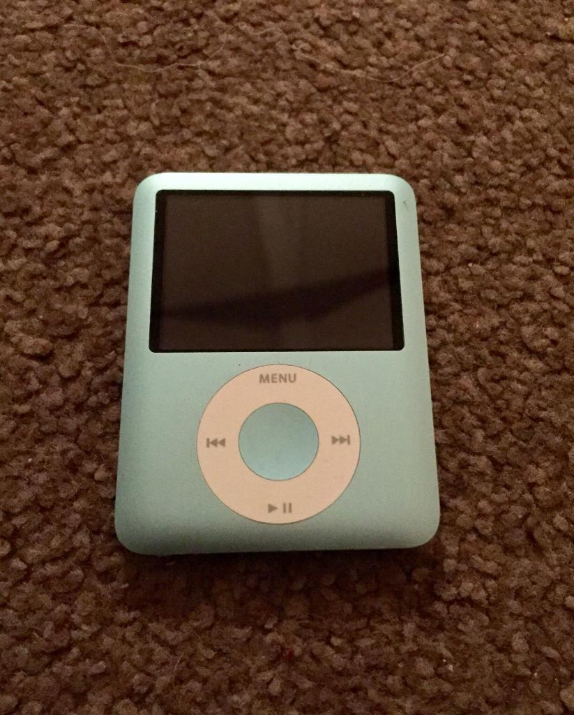 iPod Nano 3rd Generation 8gb (Blue)