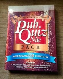 The Complete Pub Quiz Nite Pack by Carlton Books UK. Complete And VGC.