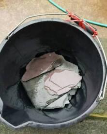 fish tank (slate rock)