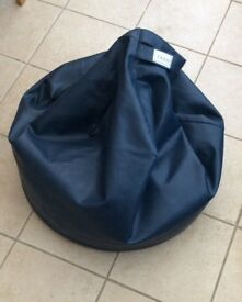 Large blue beanbag