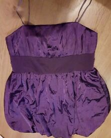 BEAUTIFUL PURPLE PARTY DRESS SIZE 18 OPEN TO OFFERS