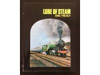 RAILWAY BOOK. LURE OF STEAM BY ERIC TREACY FOR SALE