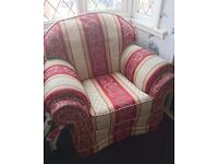 Free red/cream/gold armchair!