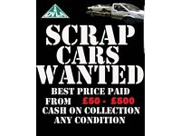 RECOVERY AND SCRAP CARS WANTED
