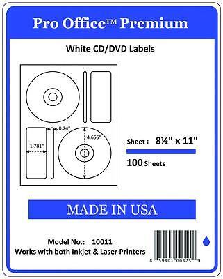 Po11 200 Cddvd Labels Matte Memorex Core Compatible Full Face Laser Inkjet