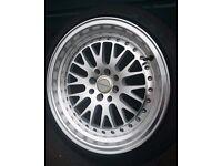 "Price drop - Ultralite UL10 Deep Dish alloys 16"" 8J 4x100/114.3 New tyres mx5, clio, ford,polo"