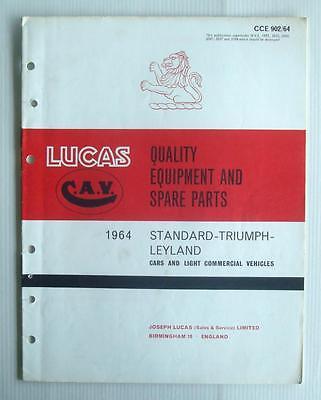 LUCAS STANDARD TRIUMPH LEYLAND Spare List 1964  #902/64