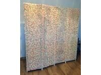 4 panel Ivory & Pink Flower Wall Hire