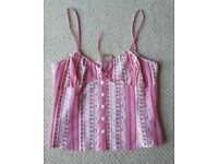 Women's Clothing Pink Summer Cami Top Size 14 from Next NEW