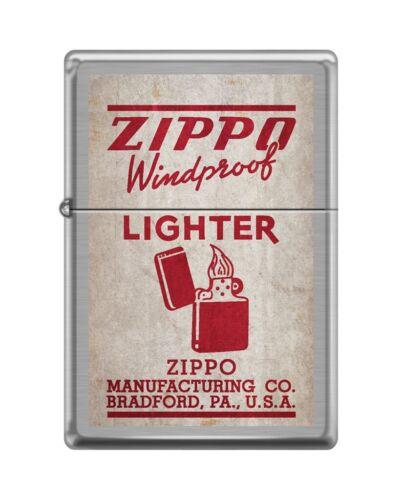 Zippo 82142 vintage zippo box top windproof lighter bradford distressed Lighter
