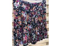 NEXT midi velvet swing skirt size 14