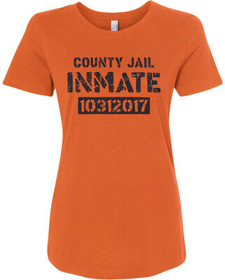 County Jail Inmate 2017 Halloween Costume Women's Fitted - Top Halloween Costumes 2017 Women