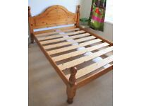 Wooden standard king size double bed frame