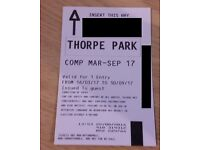 THORPE PARK TICKETS ANY DATE 2017 - VALID FROM 16/03/17 to 30/09/17