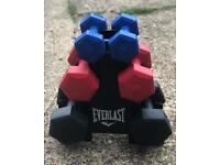 12kg plastic dumbbell weight set with rack