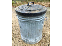 Large Outdoor Metal Bin - Dustbin With Lid - Garden, Home, Rubbish, Compost, Waste, Container, Trash