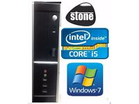 Quad Core i5 750 Stone Small Desktop PC 2.66GHZ 4GB DDR3 RAM 1GB HDMI Graphics