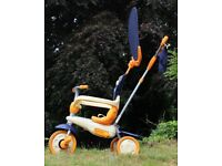 SmarTrike 4-in-1 Tricycle - Blue, Orange and Cream