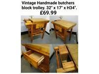 Hand-built butchers block