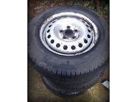 VW Volkswagen T4 Van Transporter Steel wheels including tyres