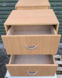 2x Small cupboard & drawer units