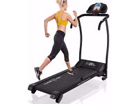 Treadmill and large fitness mat
