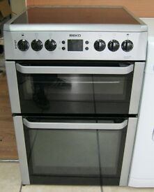 Beko 60cm Electric Cooker, Ceramic Hob, VGC, 6 Month Cover