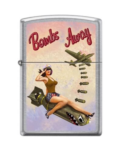 Zippo 82159 bombs away girl pin up sexy woman bombs falling salute ww2 Lighter
