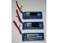 Drone - Set of 3 Turnigy Zippy 5000mah 4S 25C LiPo Batteries