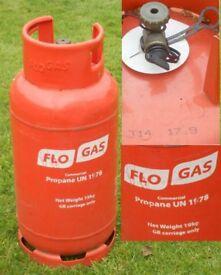 Flogas 19kg propane bottle. Full. Ideal large barbecue or static caravan.