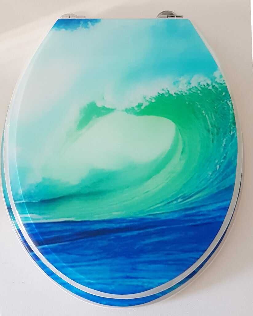 Awesome Toilet Seat Breaking Wave Print In Brighton East Sussex Gumtree Bralicious Painted Fabric Chair Ideas Braliciousco