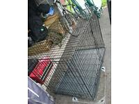 Large popup dog cage